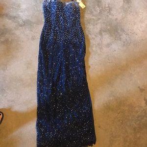 Formal strapless beaded dress